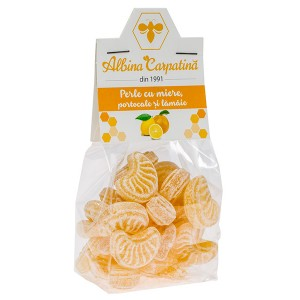 Perle cu miere, portocale si lamaie 100g