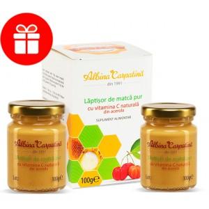 Laptisor de matca pur cu vitamina C naturala din acerola 100+100 G