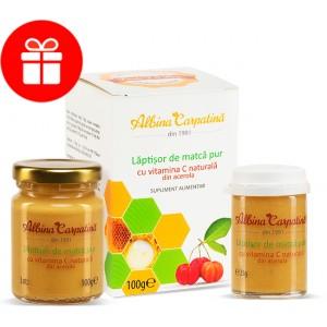 Laptisor de matca pur cu vitamina C naturala din acerola 100 +25 g