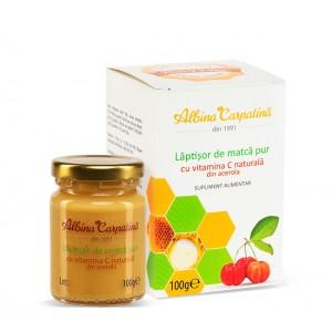 Laptisor de matca pur cu vitamina C naturala din acerola 100g