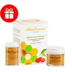 Laptisor de matca pur cu vitamina C naturala din acerola 25+10g